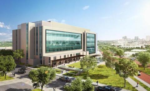 A rendering of the Interdisciplinary Research and Education Building at the UNT Health Science Center in Fort Worth. It is scheduled to be completed in fall 2018. UNT Health Science Center